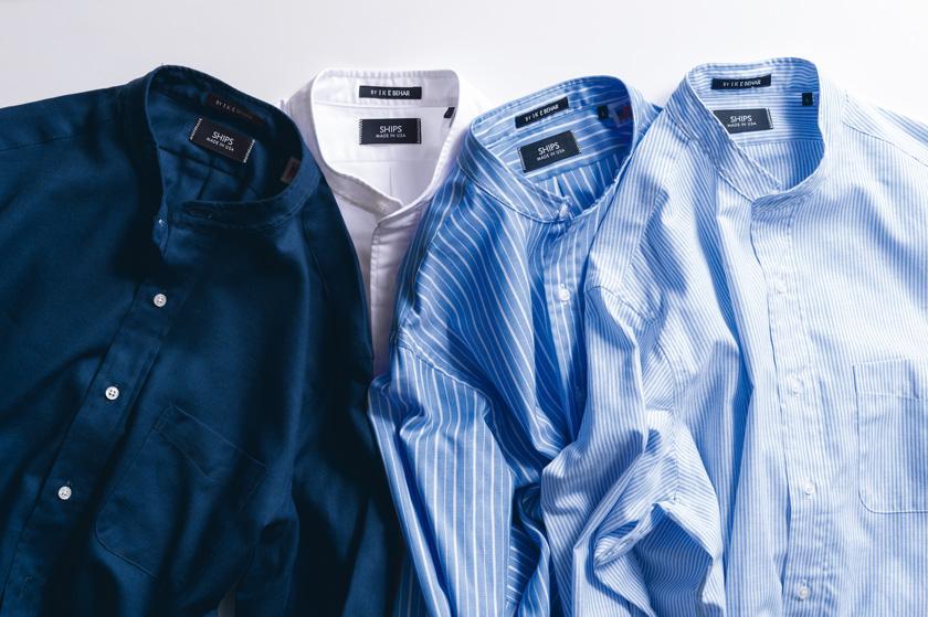 SHIPS シップスのアイクベーハー製オリジナルバンドカラーシャツ