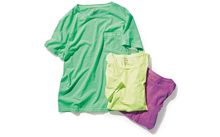 HANES ヘインズ スポーツウェアのガーメントダイTシャツ 商品