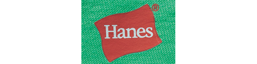 HANES ヘインズ スポーツウェアのガーメントダイTシャツ ロゴ