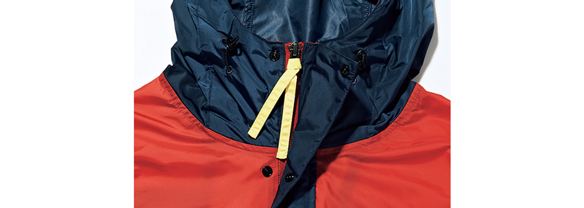 Columbia コロンビアのパブロフロード ジャケット 衿部分