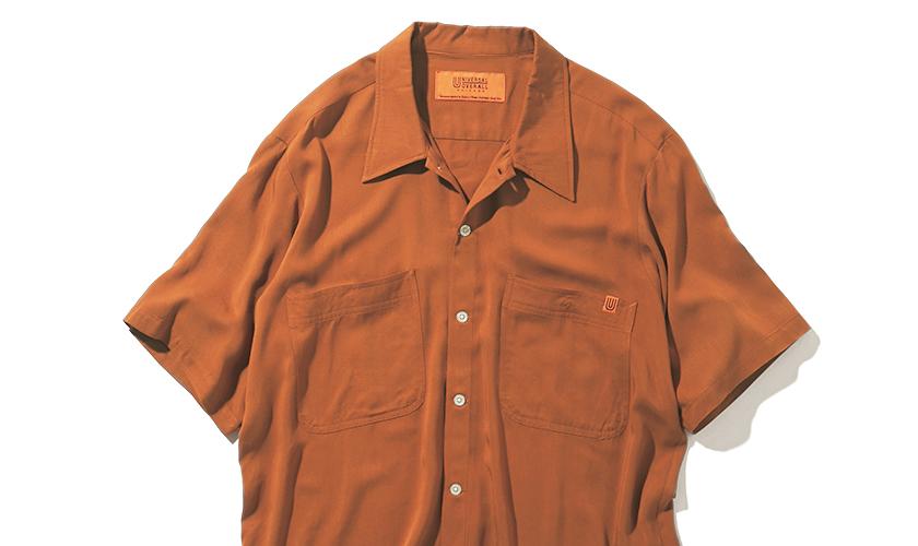 UNIVERSAL OVERALL ユニバーサルオーバーオールのオープンカラーシャツ
