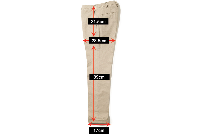 INCOTEX インコテックス パンツ タイトフィット サイズ