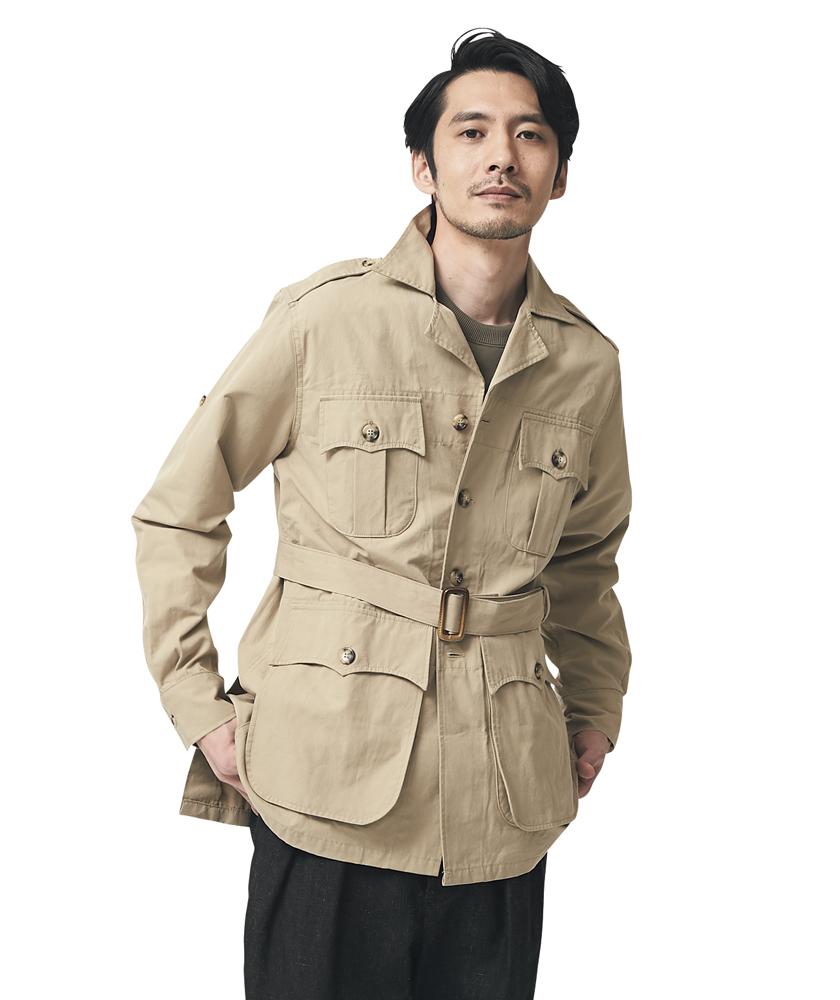 ウィリス&ガイガー×ビームス プラス のオーストラリアンブッシュジャケット モデル着用
