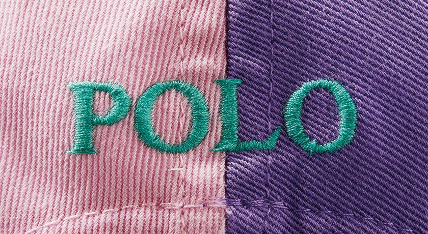 ポロ ラルフ ローレン フォー ビームスのクレイジーキャップの文字ロゴ