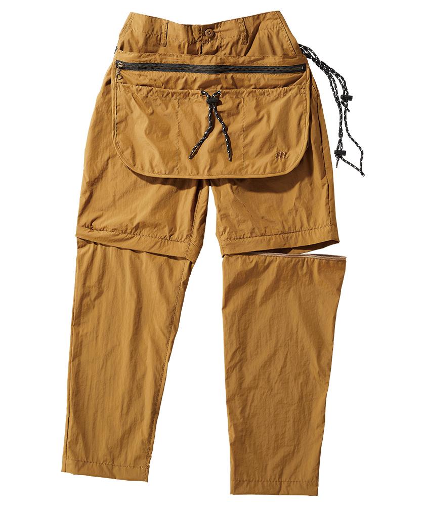マナスタッシュ×ユニバーサルオーバーオールのコンバーチブル キャンパー パンツ
