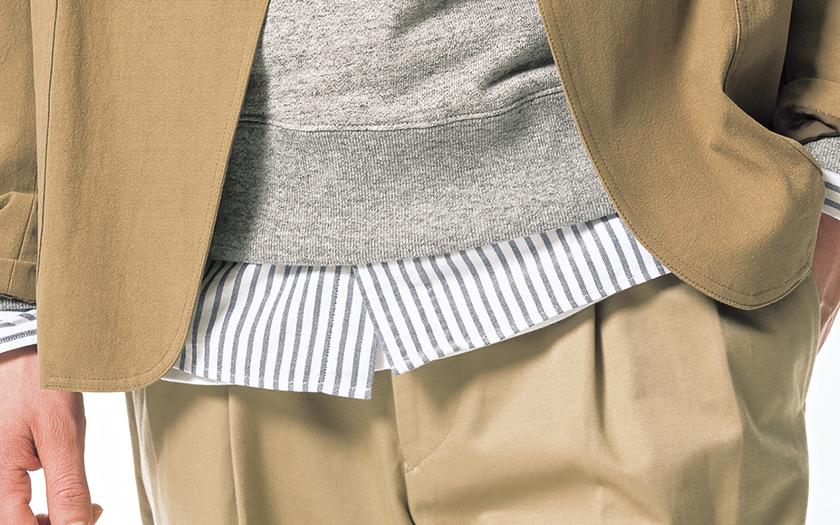 カモシタ ユナイテッドアローズのジャケット Camoshita UNITED ARROWS ストライプ