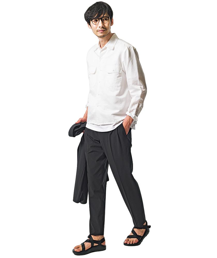 Z/1 クラシック×黒スラ×開衿シャツ