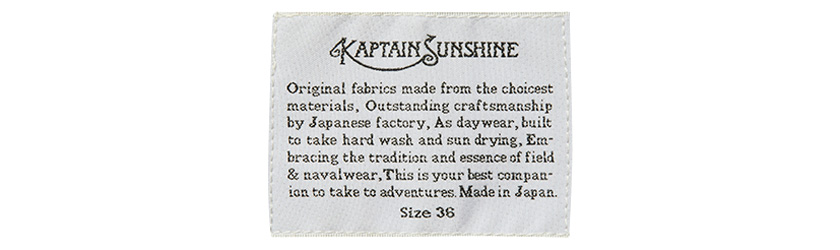 KAPTAIN SUNSHINE×BARBOUR(キャプテン サンシャイン×バブアー) ロゴ