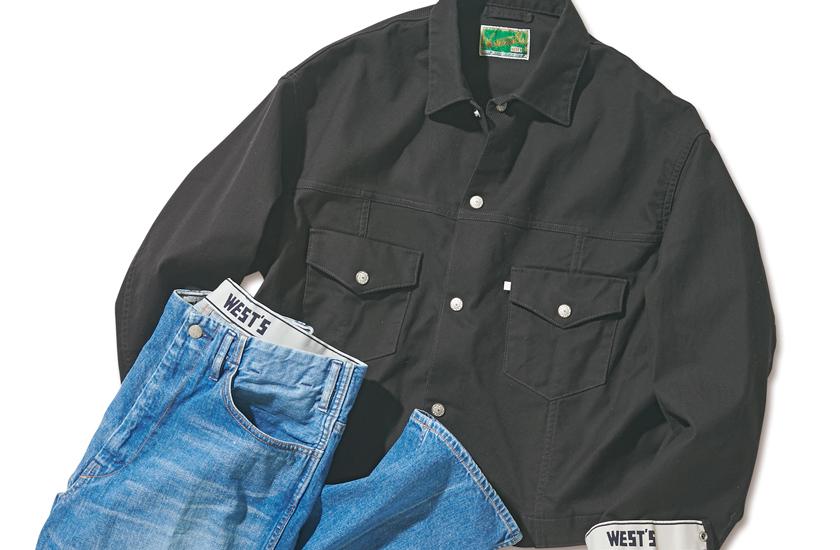 WESTOVERALLS(ウエストオーバーオールズ)×ジャーナル スタンダード  トラッカージャケットとデニムパンツ