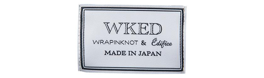ラッピンノットとエディフィスとのカプセルコレクション WKED ロゴ