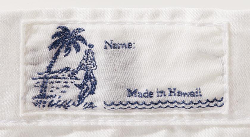 ハリス バイ ラニーズ ジェネラル ストアのハワイアンシャツのロゴ