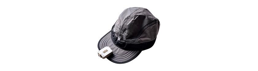 帽子のツバにクリップON