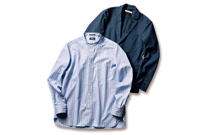 SHIPS シップス アイクベーハー製バンドカラーシャツ