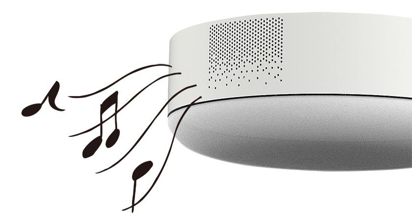 高音質スピーカーで天井から音のシャワー