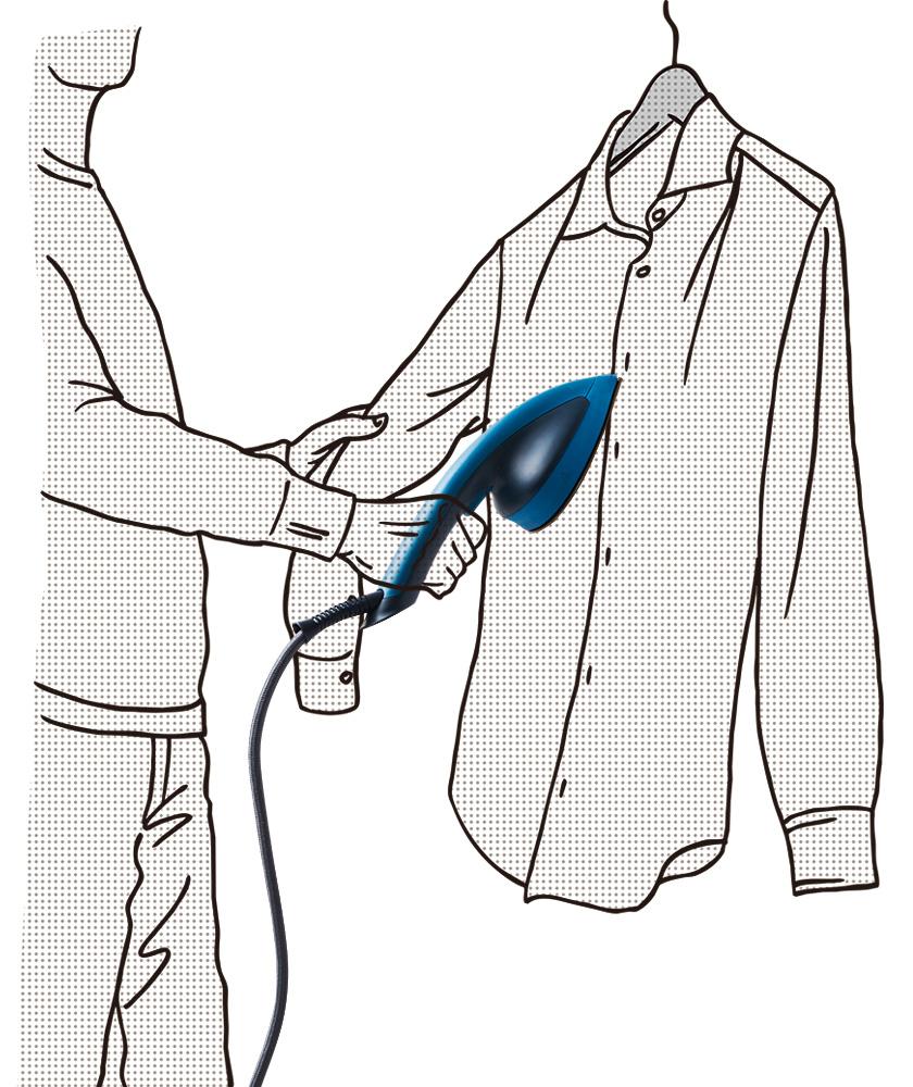 立ったままサッと使える衣類スチーマー