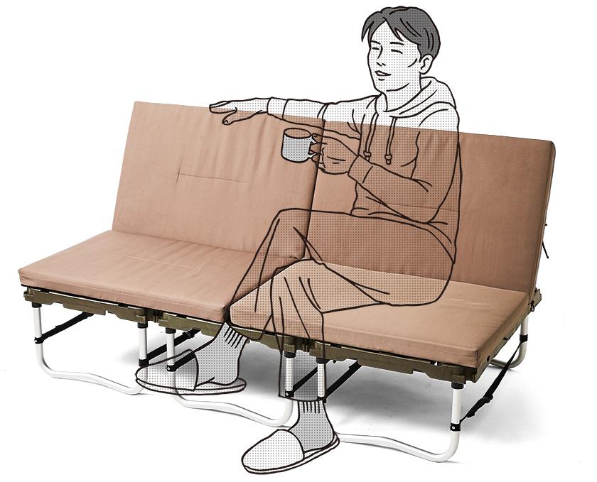 スノーピーク ラックソット マルチスターターセットラクラク座れる広いソファ