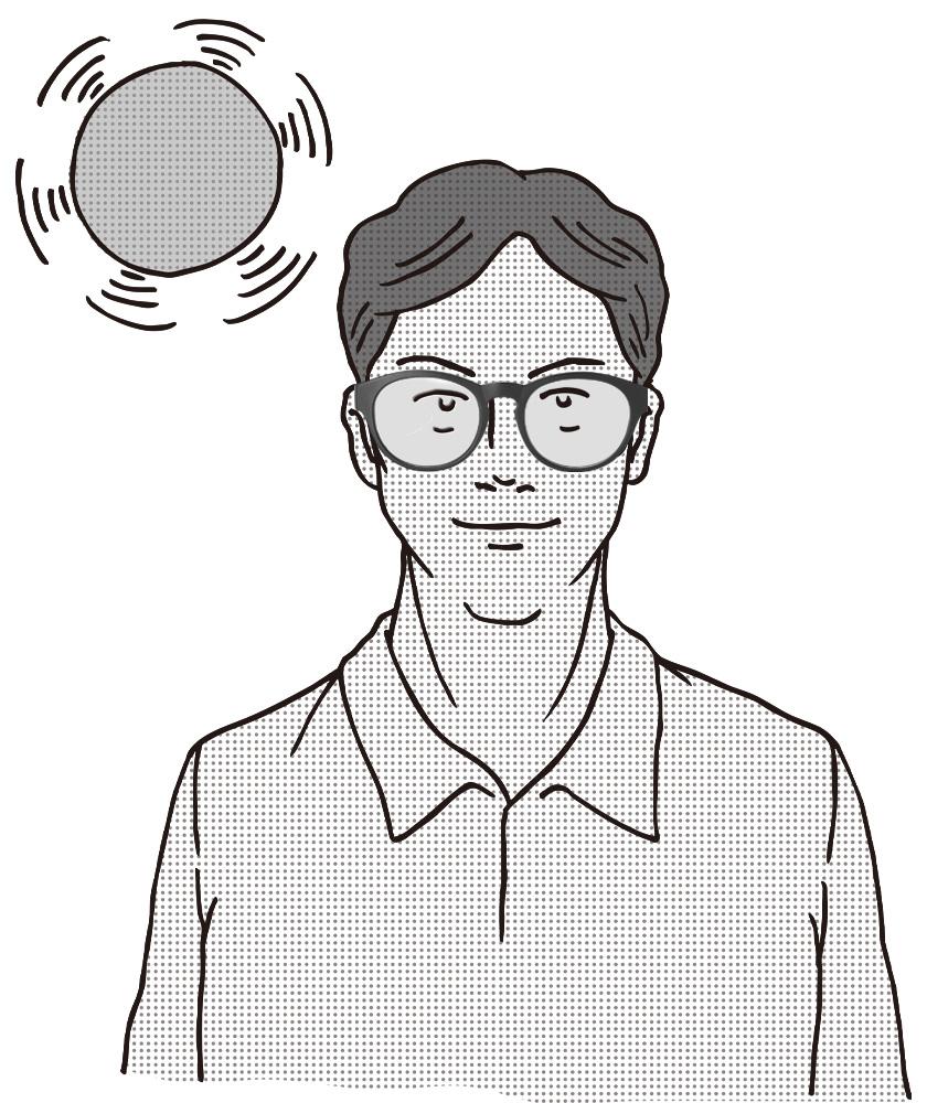 紫外線を受けるとサングラスに変化