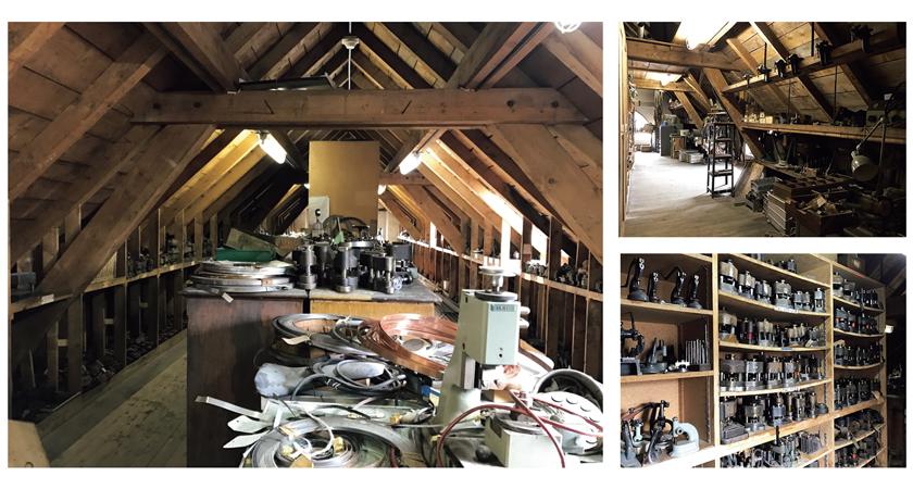 工房の屋根裏