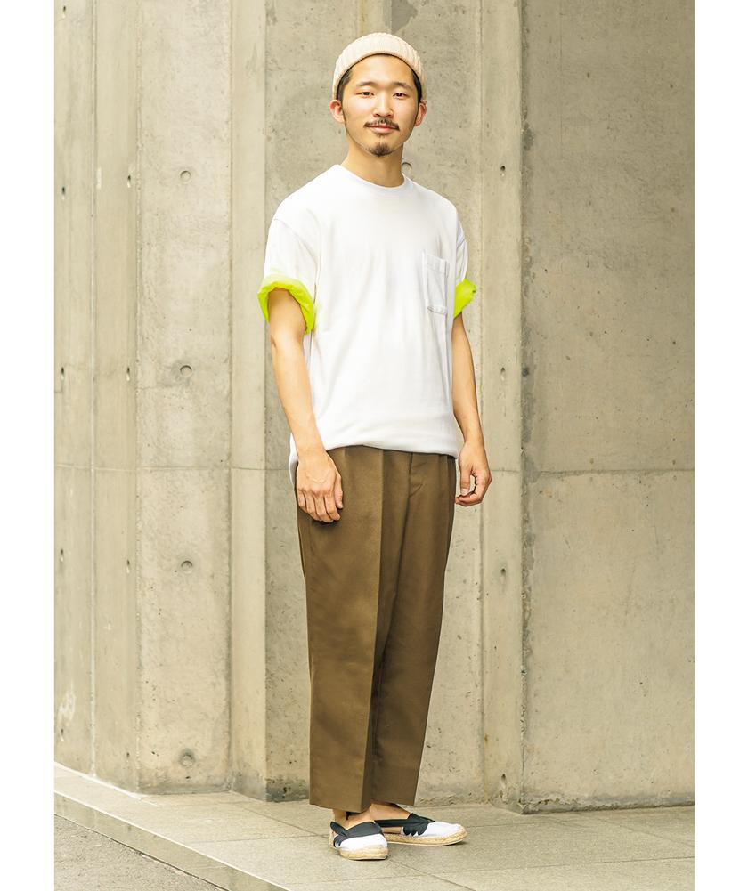 アーバンリサーチのTシャツ マネージャーズスペシャル×アーバンリサーチのTシャツ モデル着用