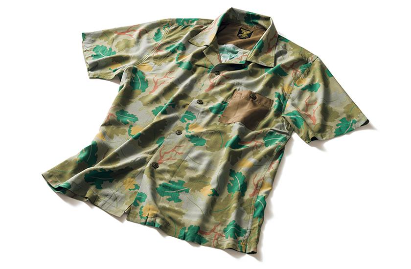 ヒューストンのミリタリーアロハシャツ