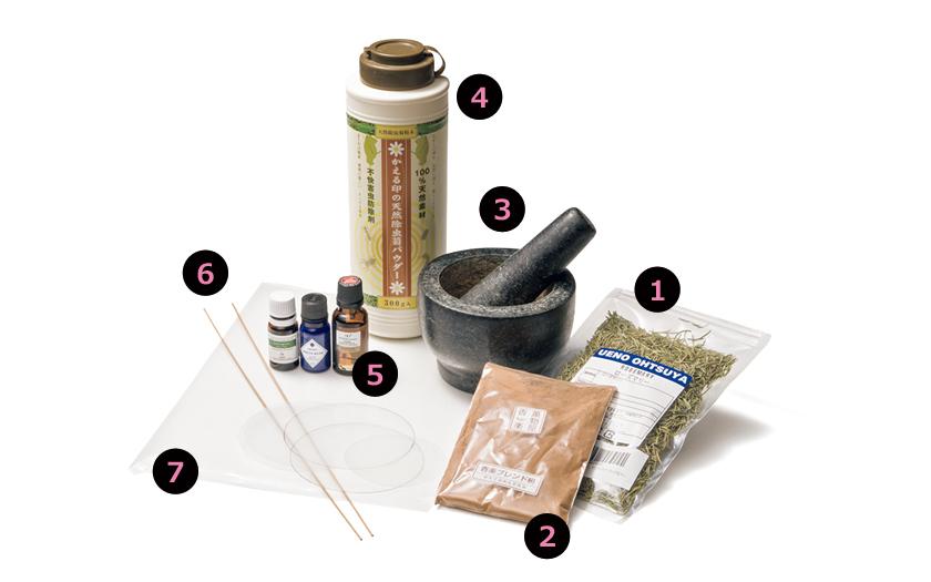 蚊取り線香を自作で用意するもの