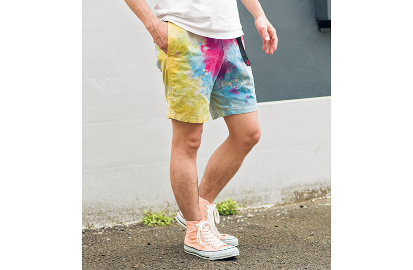 ショーツの染色&スニーカーの脱色
