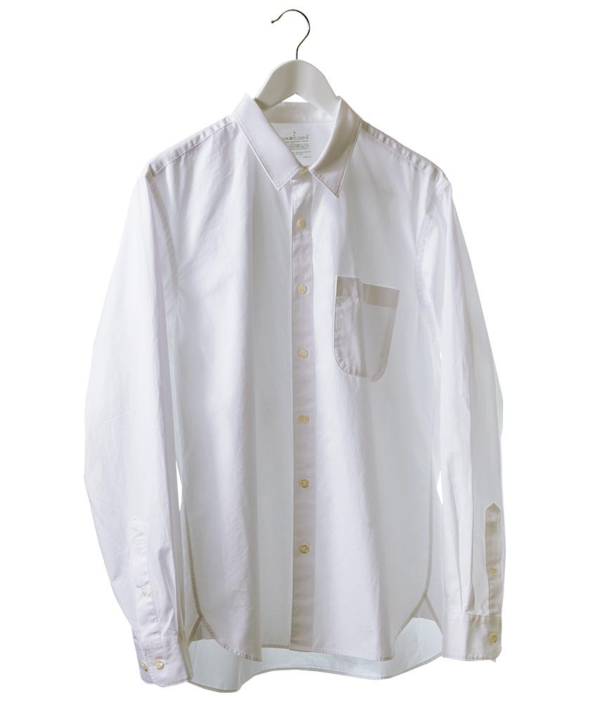 無印良品の新疆綿洗いざらしブロードシャツ(白)