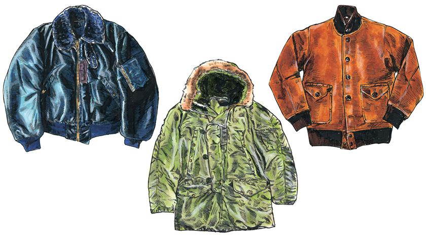 フライトジャケットは気温によって3タイプに分類される