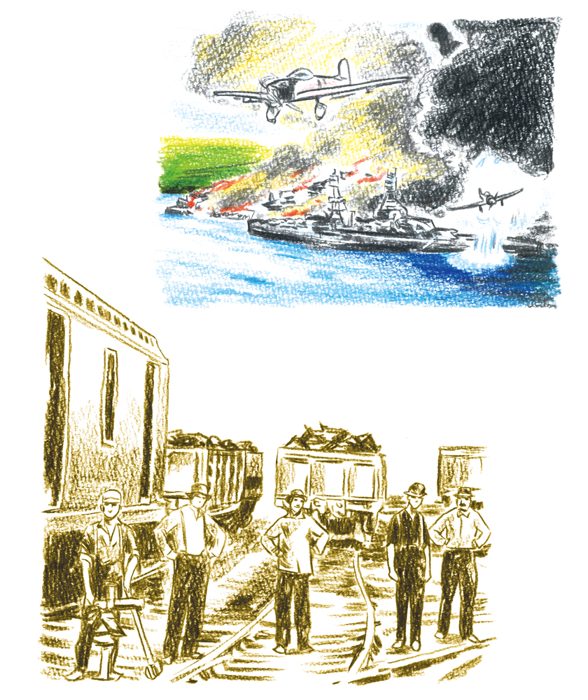 鉄道 戦時中 イメージ図