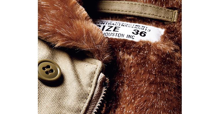 ヒューストンのN-1ジャケットはアクリルボアでケアが楽チン