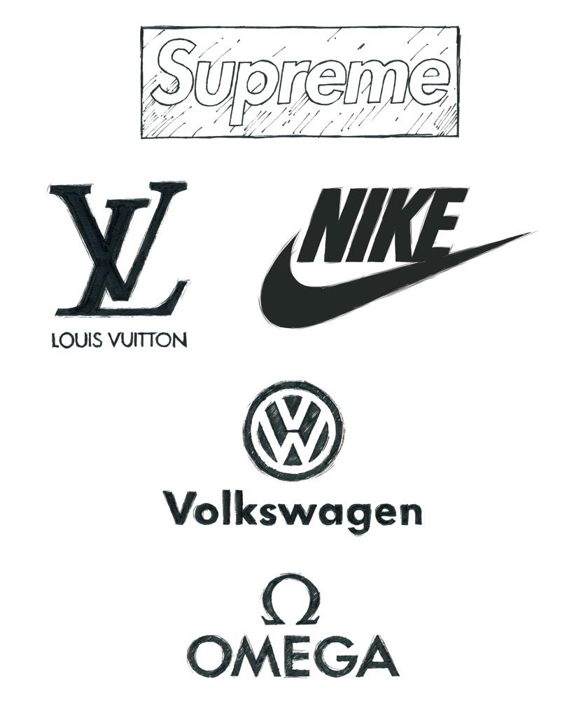 Futuraを使用した超有名ブランドやメーカーのロゴ