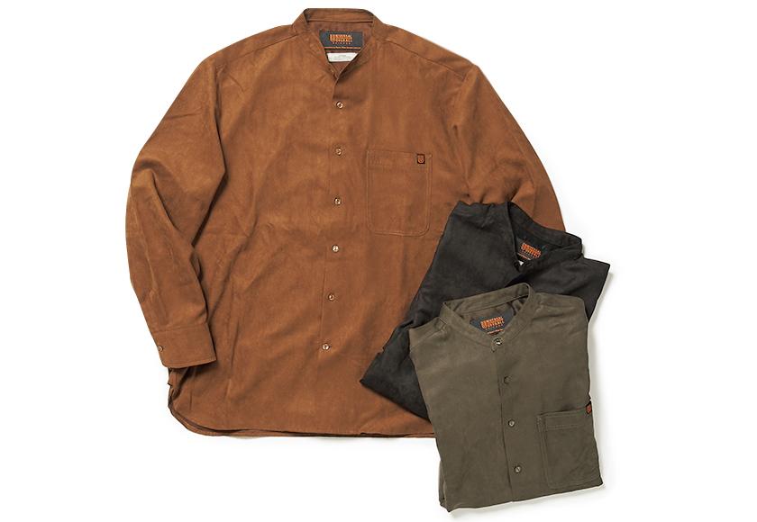 UNIVERSAL OVERALL ユニバーサルオーバーオール スエードバンドカラーシャツ