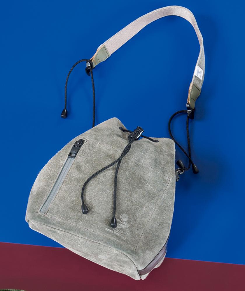 AS2OV×JOURNAL STANDARD relume アッソブ×ジャーナル スタンダード レリューム ウォータープルーフ スエード 巾着バッグ