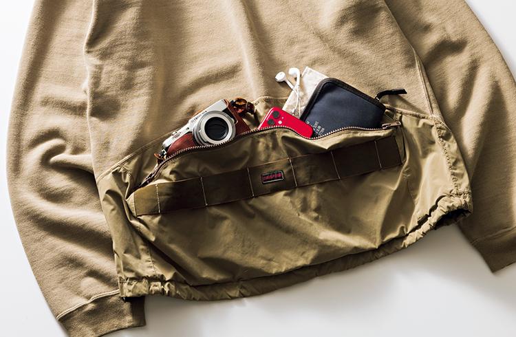 手ブラをかなえるレミ レリーフ×ブリーフィングのポーチ付きパーカ|雑誌Begin(ビギン)公式サイト