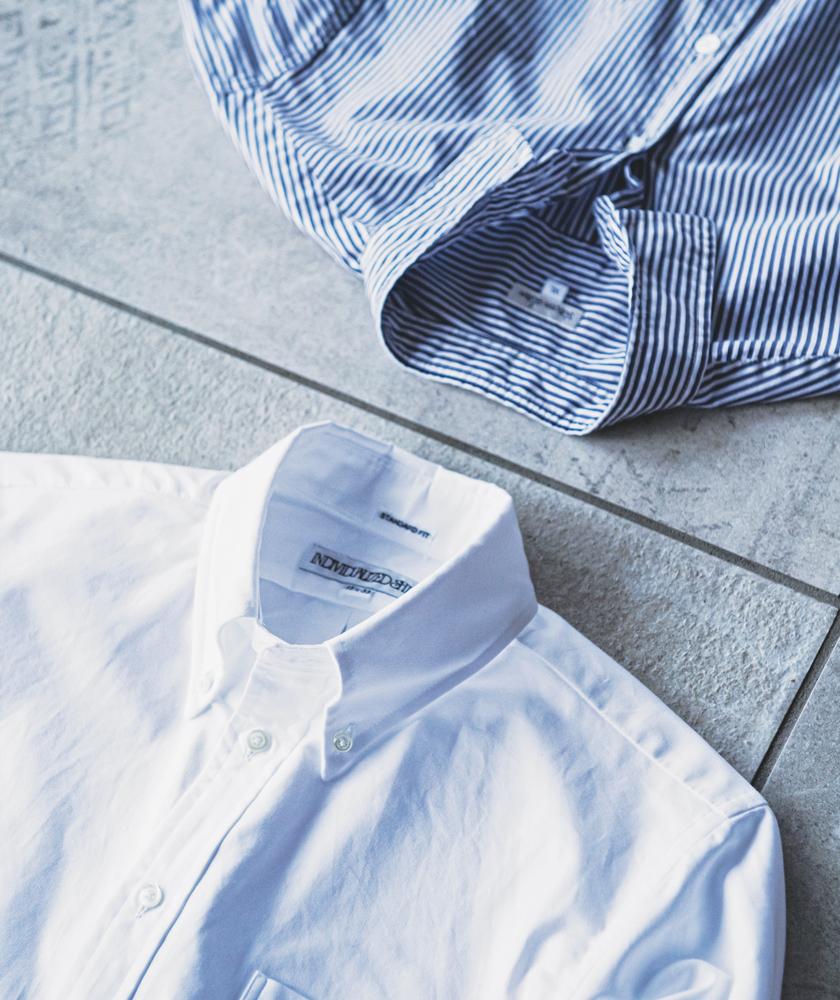 Steven Alan[スティーブン アラン]リバースシームシャツ INDIVIDUALIZED SHIRTS[インディビジュアライズド シャツ]スタンダードフィット BDシャツ