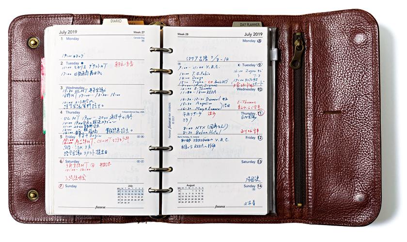 IL BISONTE イルビゾンテ フラップシステム手帳