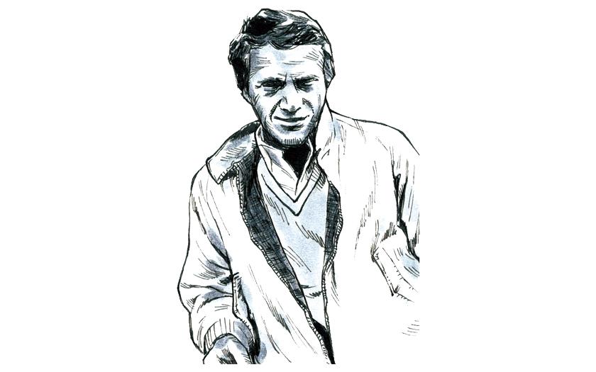 スティーブ・マックイーンもシャツはBDカラー
