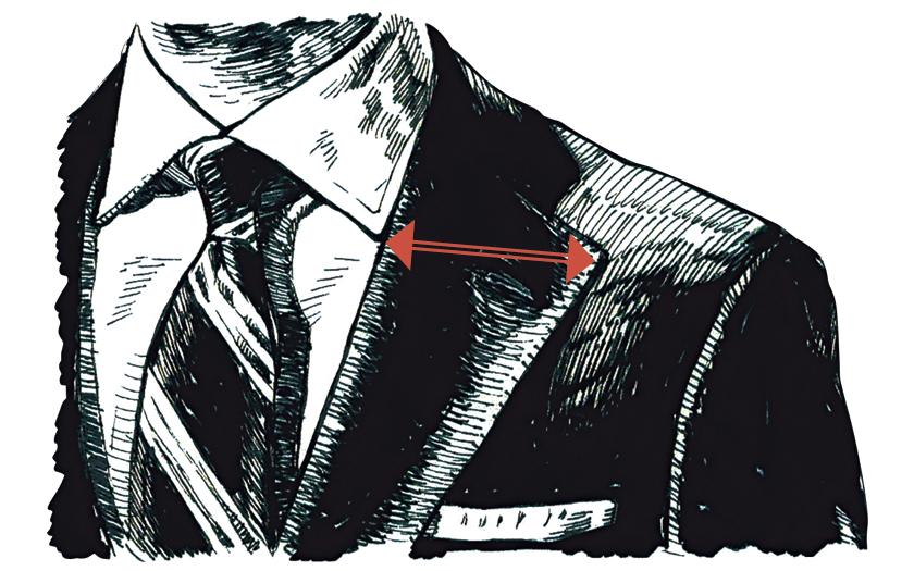 """スーツスタイルの""""5つ""""の絶対値 ラペル幅"""
