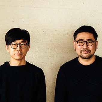 テント クリエイター青木亮作さん(左)治田将之さん(右)