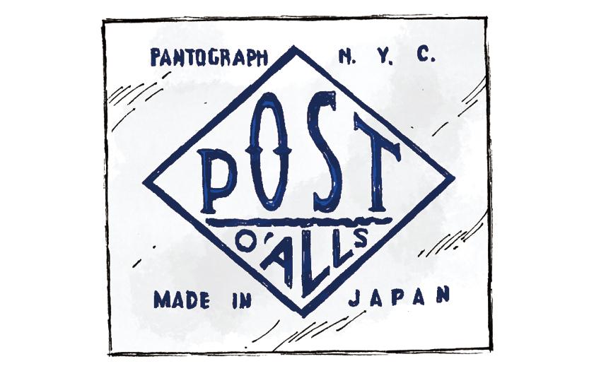 POST OVERALLS ポストオーバーオールズ ロゴ