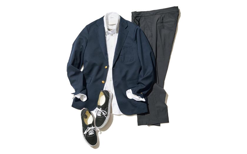 BEAMS PLUS ビームス プラス 紺ブレ MELPLE メイプル グレースラックス INDIVIDUALIZED SHIRTS インディビジュアライズド シャツ ボタンダウンシャツ