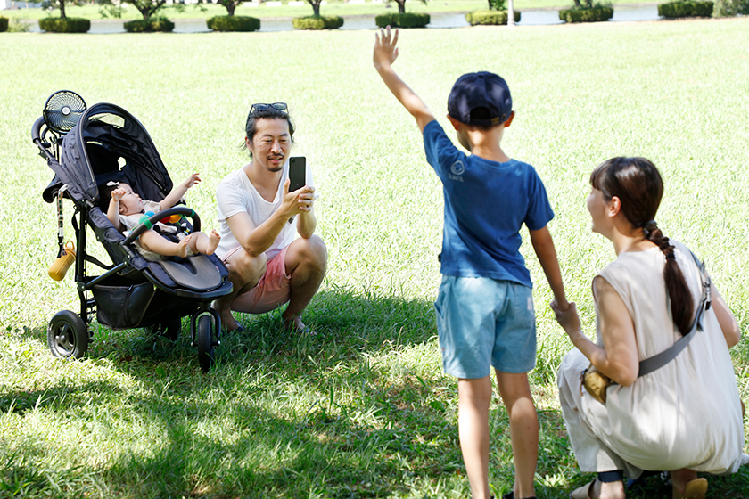 スタイリスト金江朱さんとご家族