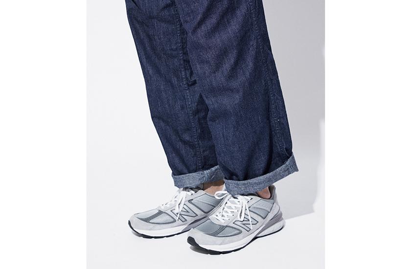 ワイドパンツ ニューバランスの靴
