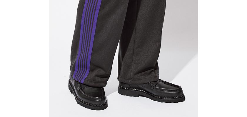 トラックパンツ パラブーツの靴