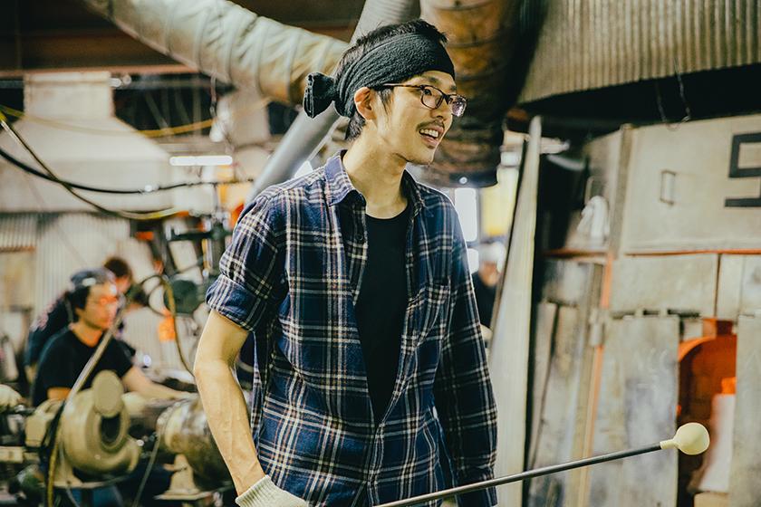 北洋硝子 職人 成田拓司 氏