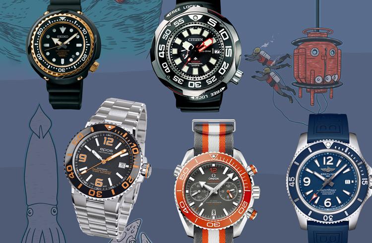 ド級スペックだけど街中でも違和感ないデザイン♡ タイタニック級ダイバーズ時計