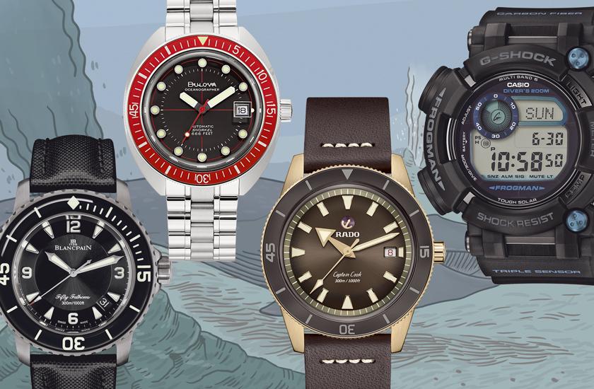 大陸棚級ダイバーズ時計