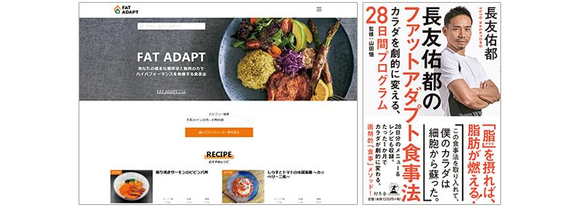 長友佑都のファットアダプト食事法 幻冬舎 ファットアダプト ウェブサイト