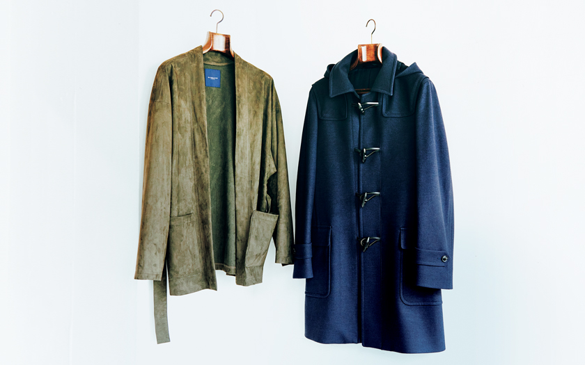 azabu tailor 麻布テーラー ドレスジャージー ダッフルコート RAINMAKER レインメーカー エコスエード ベルテッドジャケット