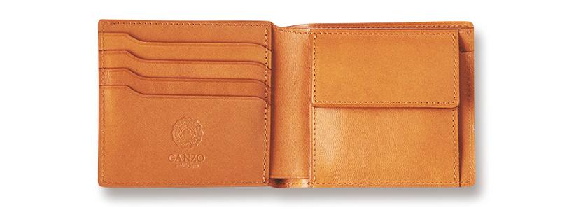 ガンゾ GANZO コードバンオーセンティック 小銭入れ付き2つ折り財布